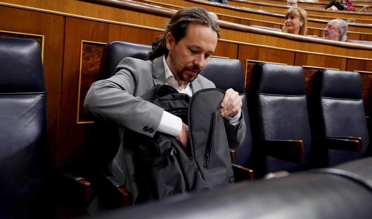 Pablo Iglesias, Podemos, en el Congreso de los Diputados.