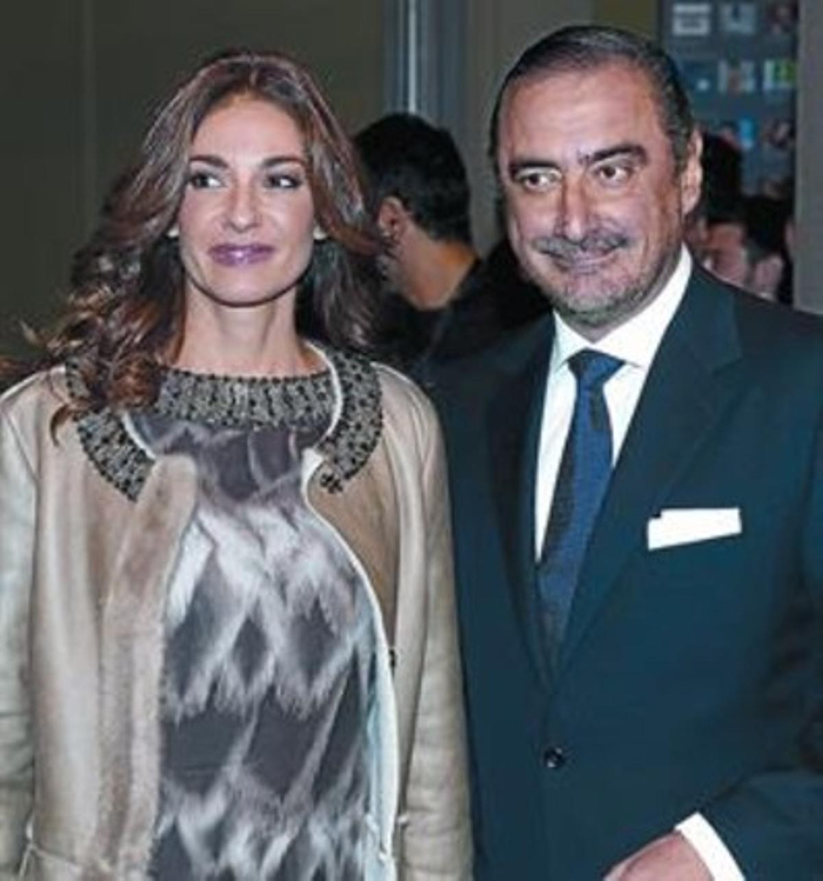 Mariló Montero y Carlos Herrera, en Barcelona, en el 2010, durante la entrega de los Premios Ondas.