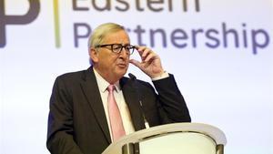 El presidente de la Comisión Europea, Jean-Claude Juncker, en una conferencia el pasado 13 de mayo en Bruselas.