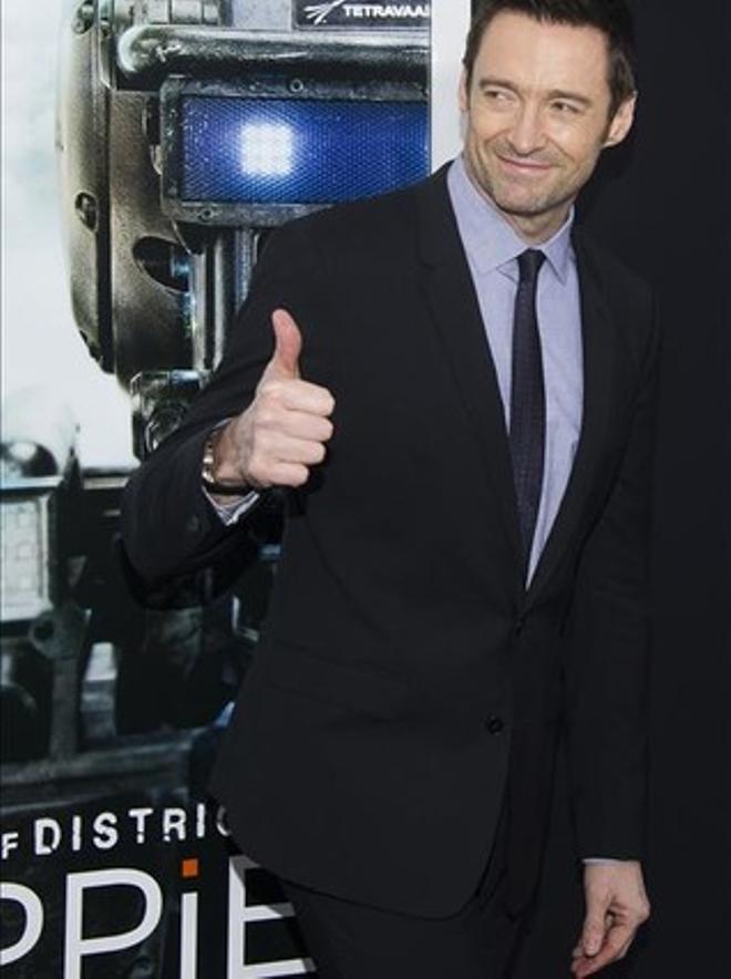 Hugh Jackman, a la presentació de 'Chappie'.