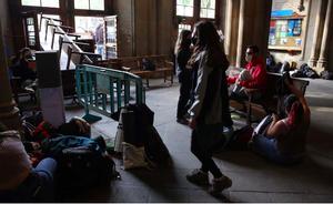 Ocupación estudiantil del rectorado de la UB, el pasado mes de abril