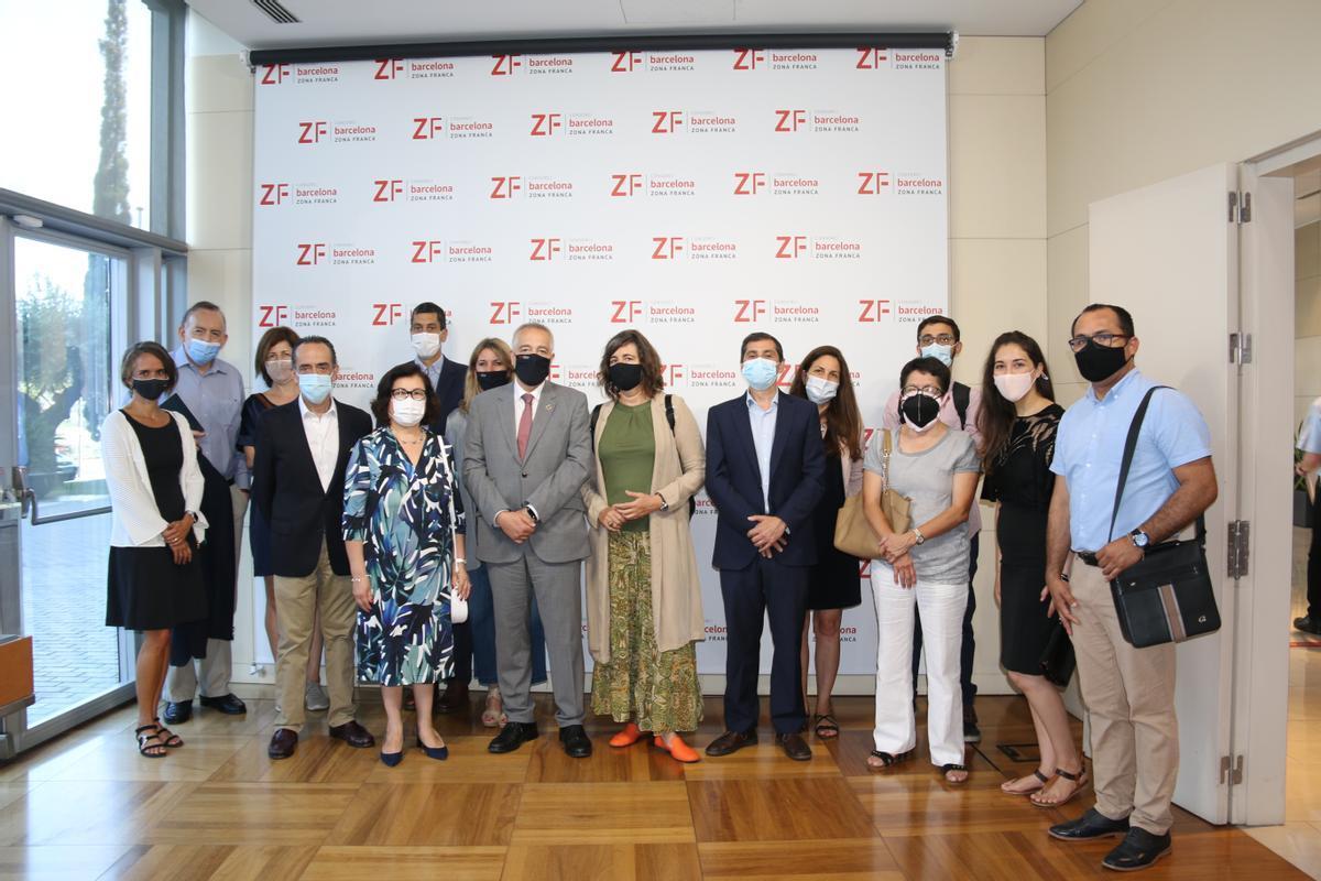 El Consorci de la Zona Franca recibe la visita de empresarios y autoridades latinoamericanas