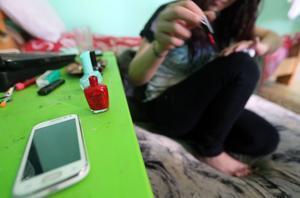 Una mujer siria, víctima de la explotación sexual.