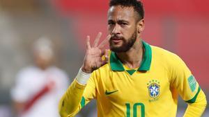 Neymar dirigió el triunfo de Brasil ante un aguerrido Perú.