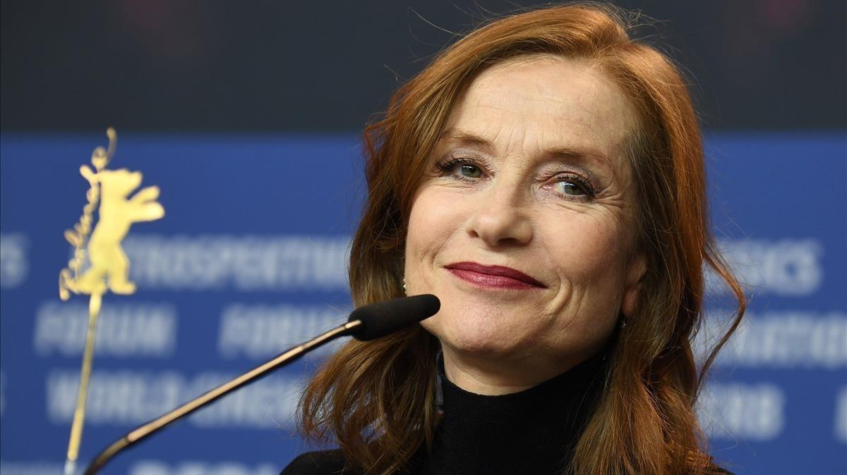 Isabelle Huppert, este sábado en la Berlinale durante la presentación de 'Eva'.