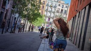 Vista de la calle d'en Robador de Barcelona.