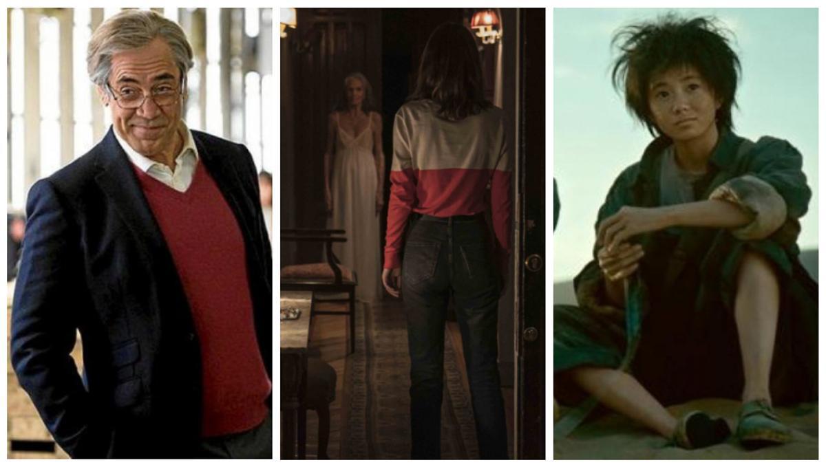 Fotogramas de 'El buen patrón', 'La abuela' y 'Un segundo'