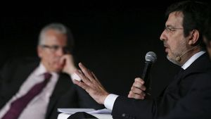 GRA207  MADRID  21 05 2014 - El juez de la Audiencia Nacional Fernando Andreu  durante su intervencion en el congreso internacional sobre justicia universal que se celebra esta semana en Madrid organizado por la Fundacion Internacional Baltasar Garzon  FIBGAR   EFE Juan Carlos Hidalgo