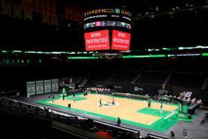 Una imagen del TD Garden, la cancha de los Celtics que ha vivido la suspensión del Celtics-Heat