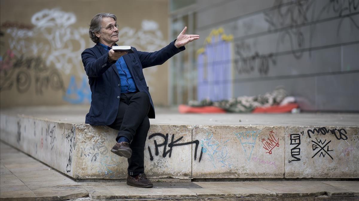 El escritor francés Daniel Pennac, en el CCCB.