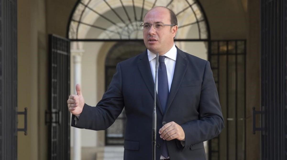 El presidente de Murcia, Pedro Antonio Sánchez.