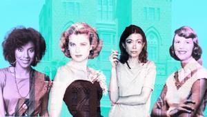 De izquierda a derecha, las residentes ilustres Phylicia Rashad, Grace Kelly, Joan Didion y Sylvia Plath.
