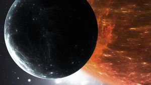Recreación del exoplaneta hecha por la Universidad de Oviedo