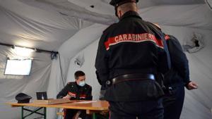 Video arraignment hearing during coronavirus pandemic in Italy