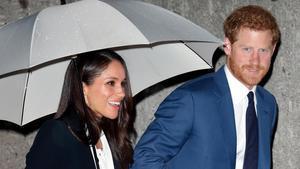 Enrique y Meghan,trasuna reciente entrega de premios en Londres.