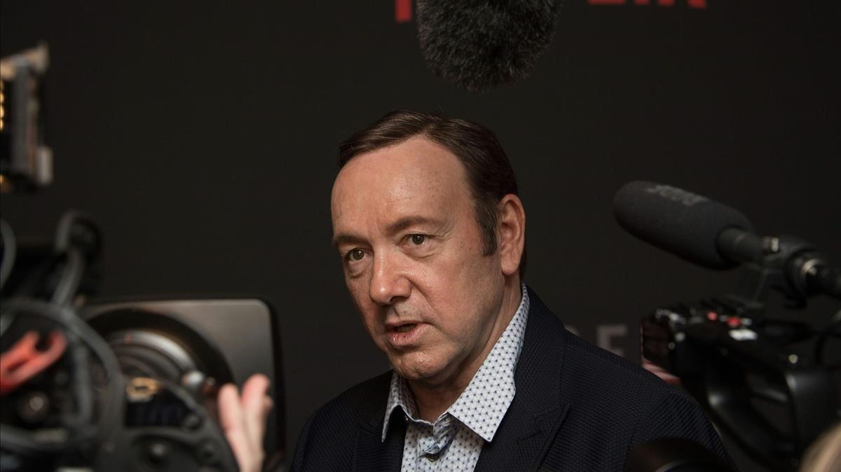El actor Kevin Spacey, en la presentación de la serie de Netflix 'House of Cards', en el 2016.