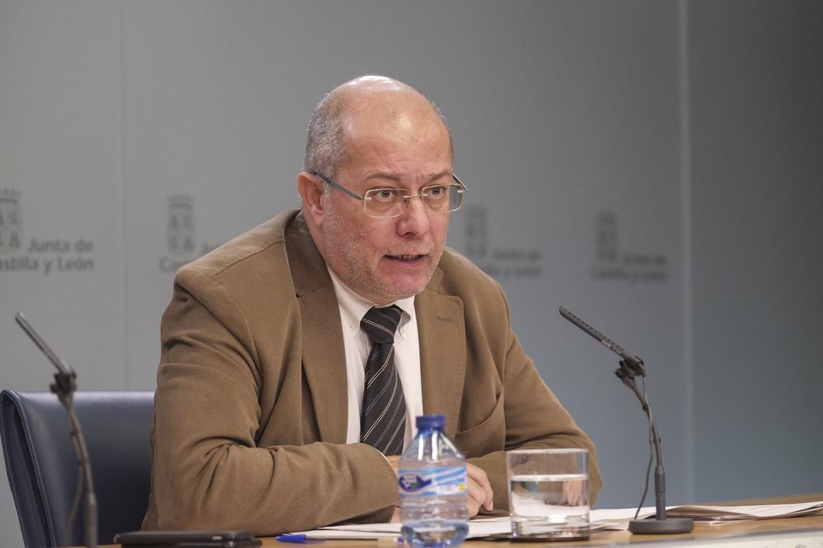 09/01/2020 El vicepresidente de la Junta, Francisco Igea, en la rueda de prensa posterior al Consejo de Gobierno