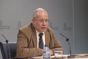 El vicepresidente de la Junta de Castilla y León, Francisco Igea, en una rueda de prensa.