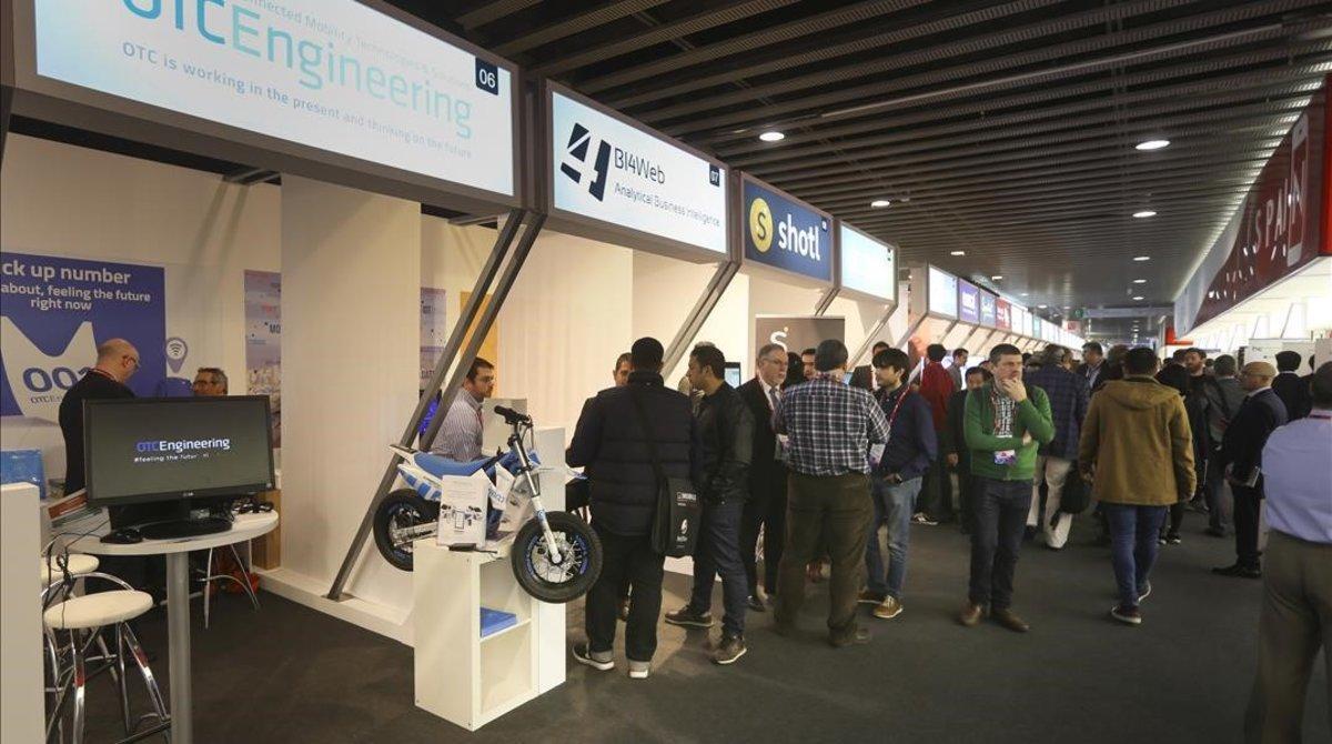Empresas catalanas en una edición pasada del Mobile World Congress.