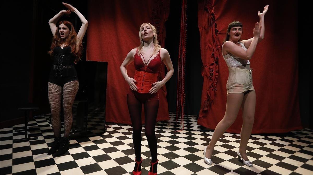 The Feliuettes en un momento de 'Akelarre'.