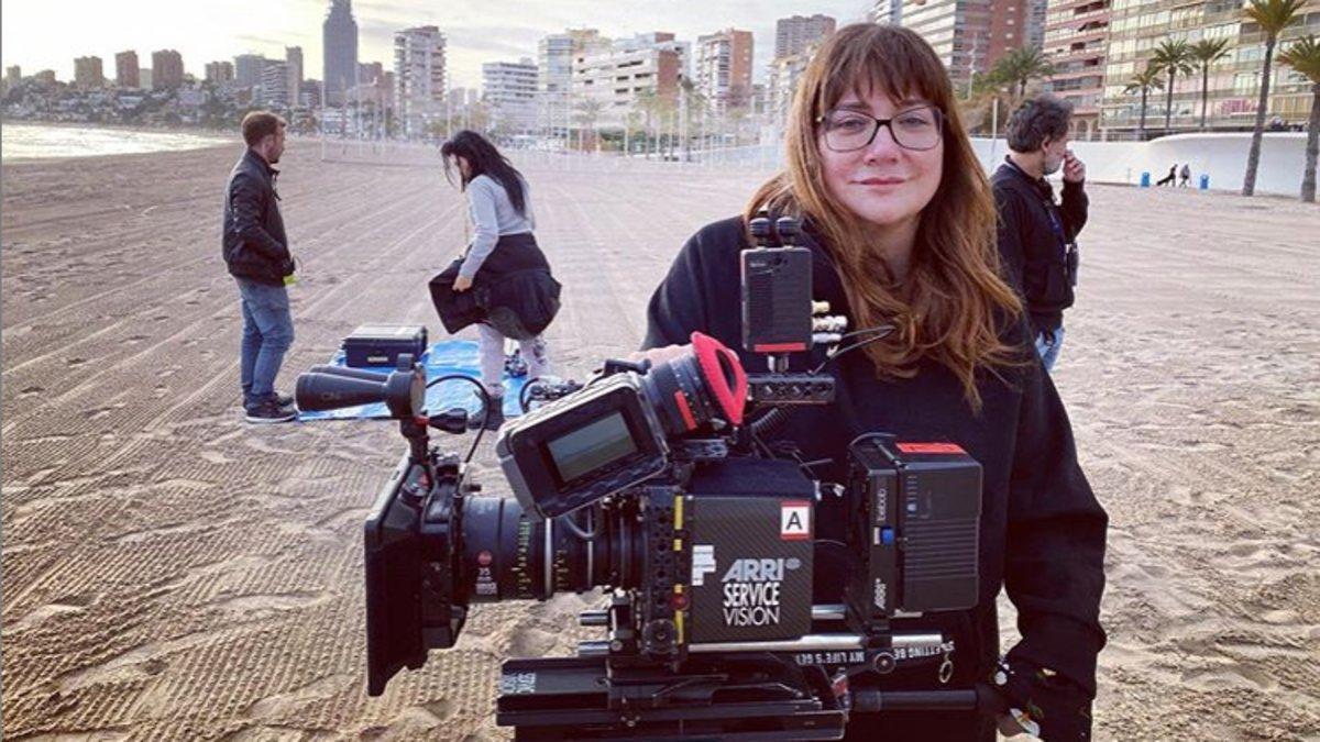 Isabel Coixet, en el rodaje de 'Nieva en Benidorm'.