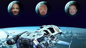 L'autèntica guerra de les galàxies: Bezos, Branson i Musk es disputen la carrera espacial