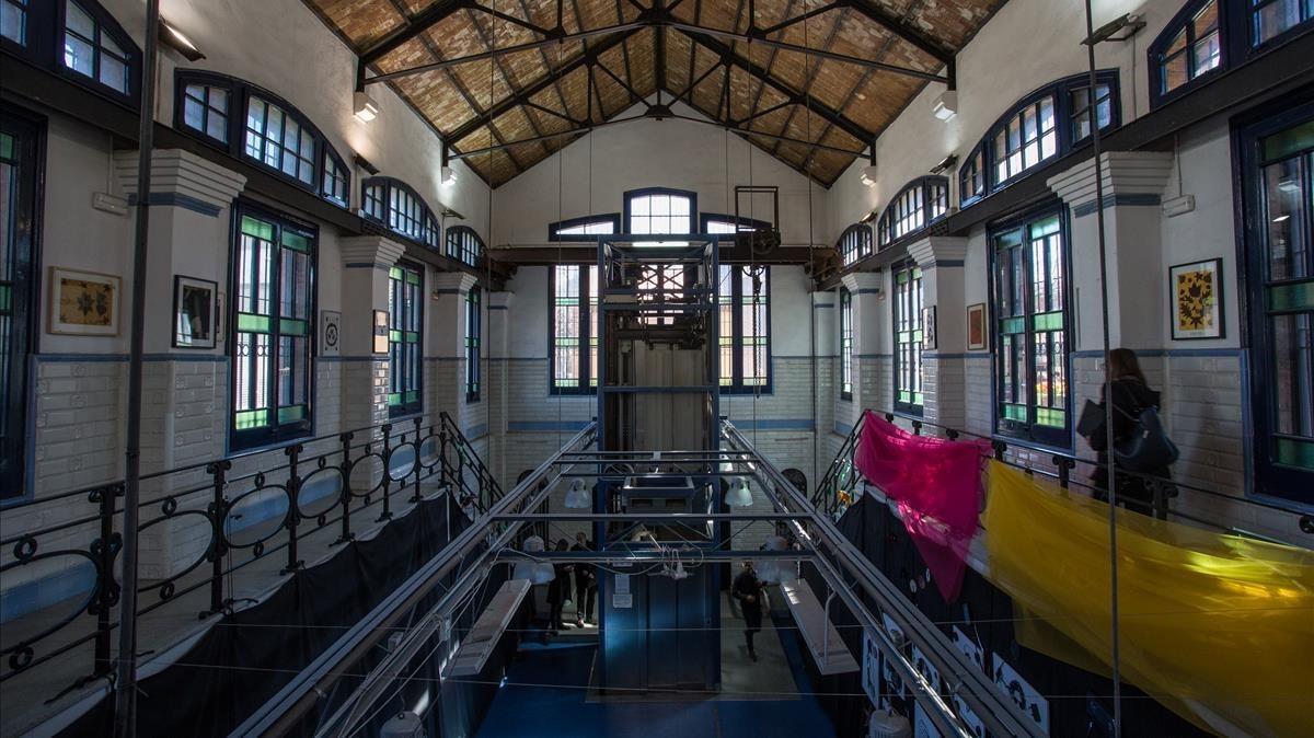 Interior de la Casa de l'Aigua deTrinitat Vella.