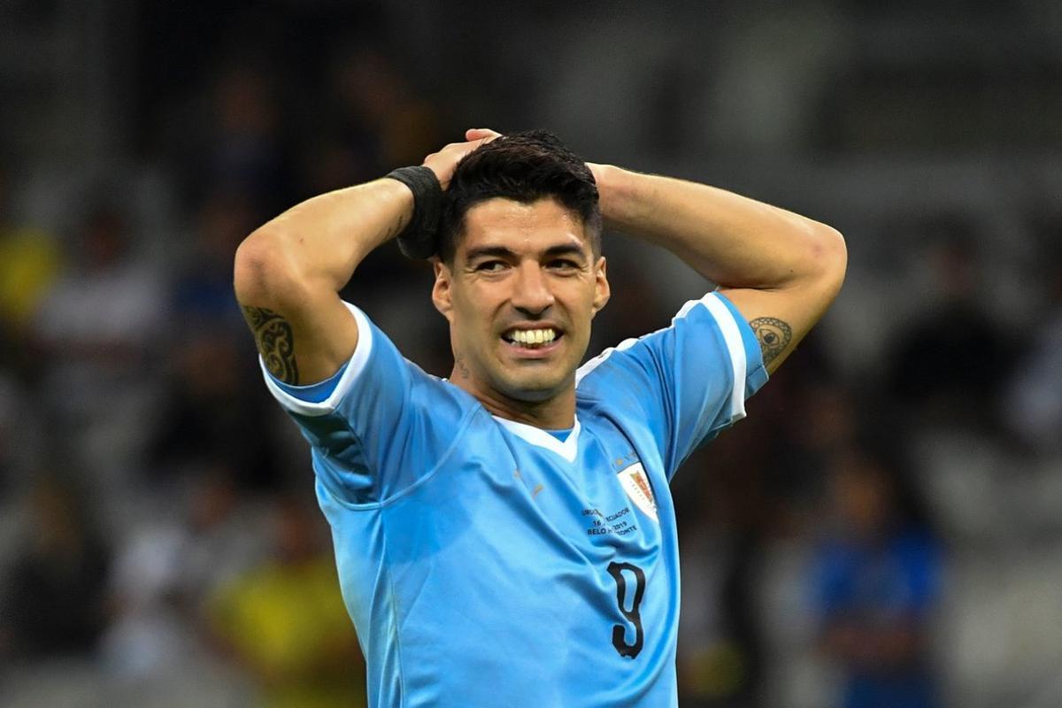 Luis Suárez, durante el partido ante Ecuador.