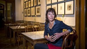 La escritora Rachel Cusk, en el 2016, en Barcelona.