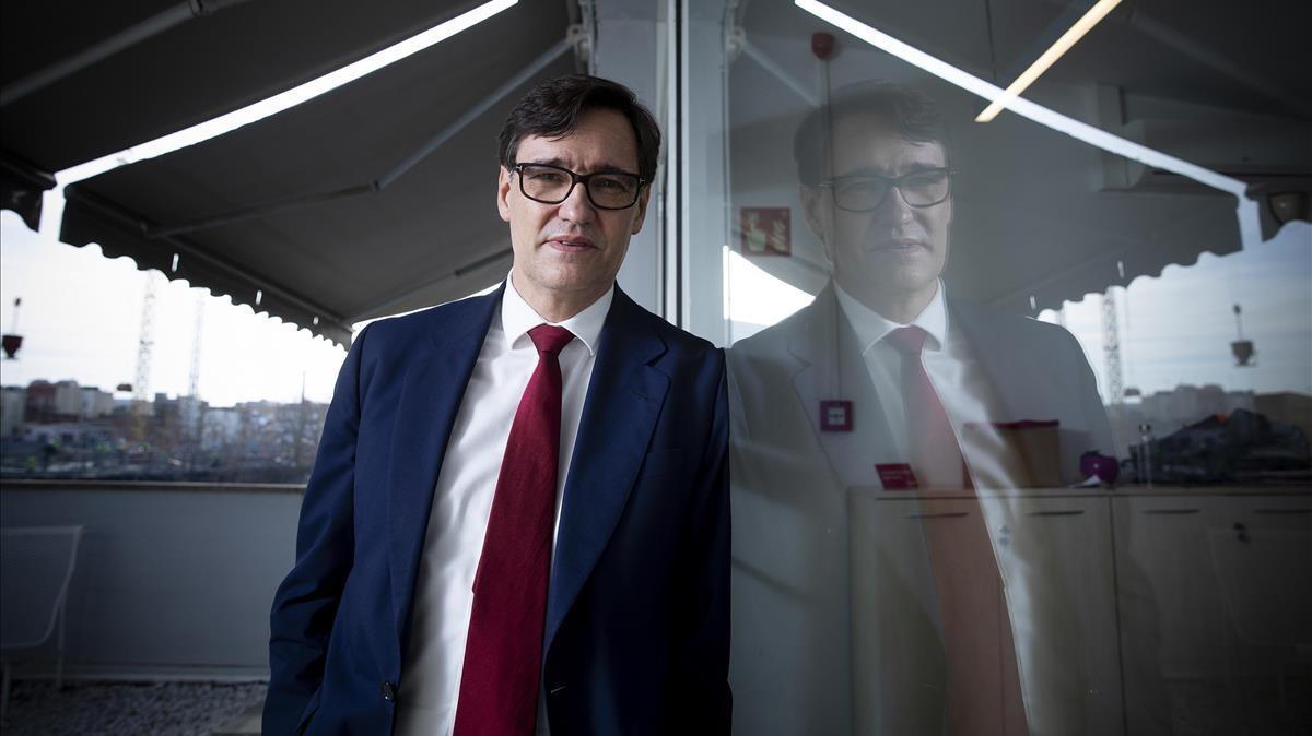 Salvador Illa, candidato del PSC a la presidencia de la Generalitat