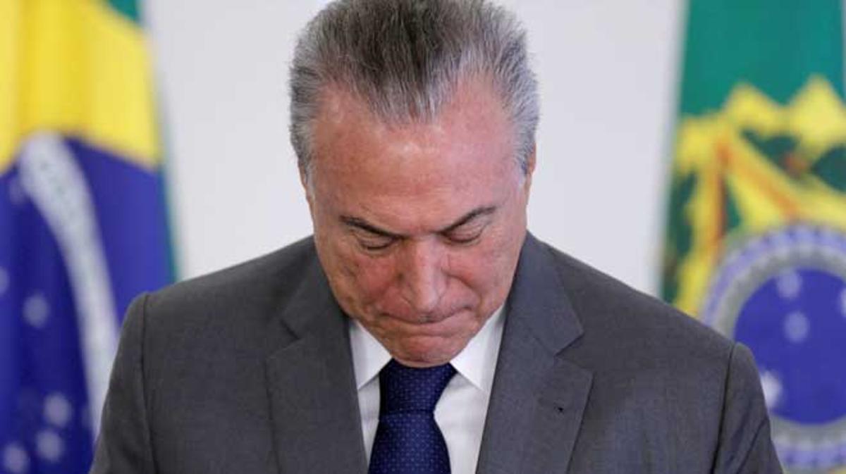Una suposada gravació ha posat contra les cordes el president del Brasil.