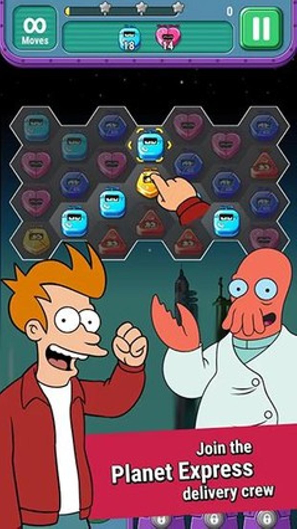 La aplicación Futurama game of drones