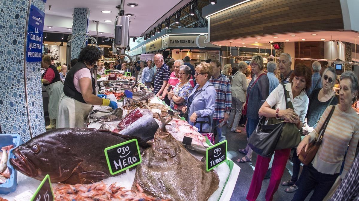El Mercado de Sant Antoni el día de su inauguración