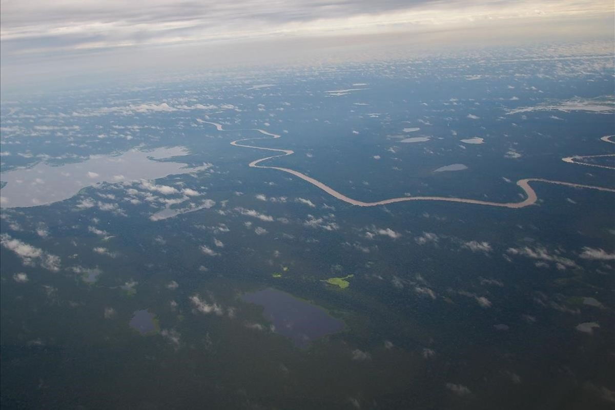 Imagen aérea de la Amazonia.
