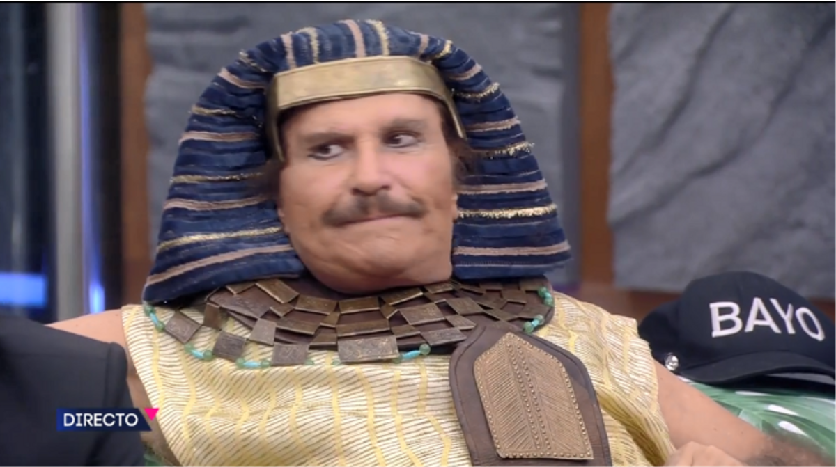 Bigote Arrocet de faraón, en 'Secret Story' de Tele 5.