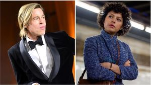 Brad Pitt y Alia Shawkat.