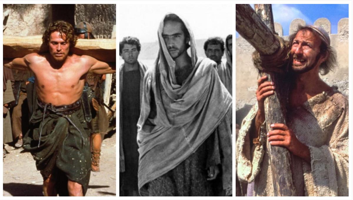 Fotogramas de 'La última tentación de Cristo', 'El evangelio según San Mateo' y 'La vida de Brian'.