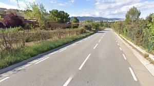 Carretera en la que se produjo la colisión entre el conductor drogado y la mossa que falleció.