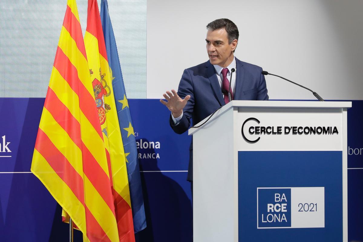 Pedro Sánchez en el cercle d'economia
