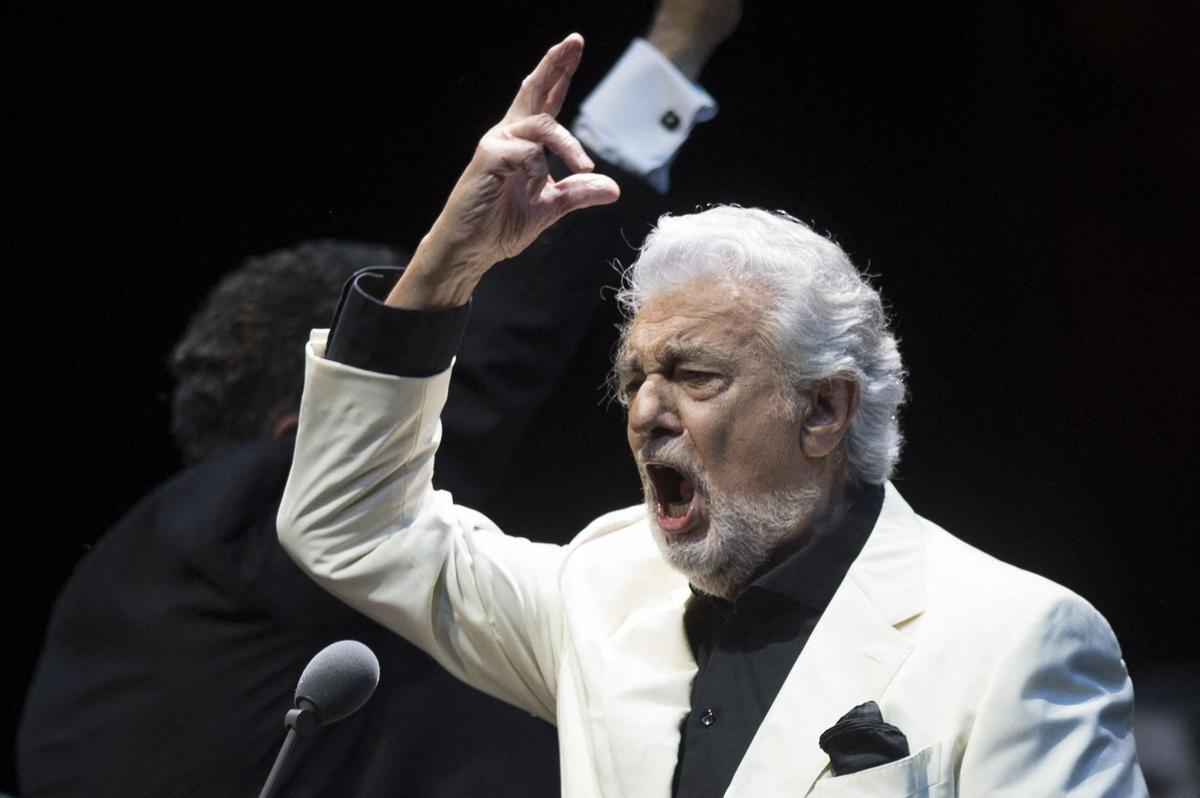 Plácido Domingo, en Marbella, el miércoles por la noche.