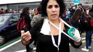 Marta Torrecillas fue agredida en el Instito Pau Claris el 1-O.