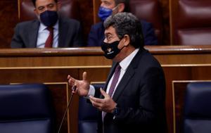 El ministro de Inclusión y Seguridad Social, José Luís Escrivá; durante una sesión del Congreso.