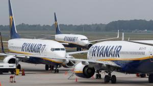 Aviones de Ryanair.