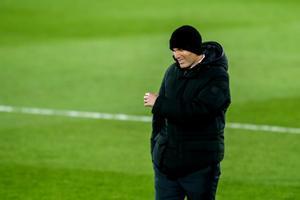 El técnico francés Zinedine Zidane durante el último partido del Real Madrid.