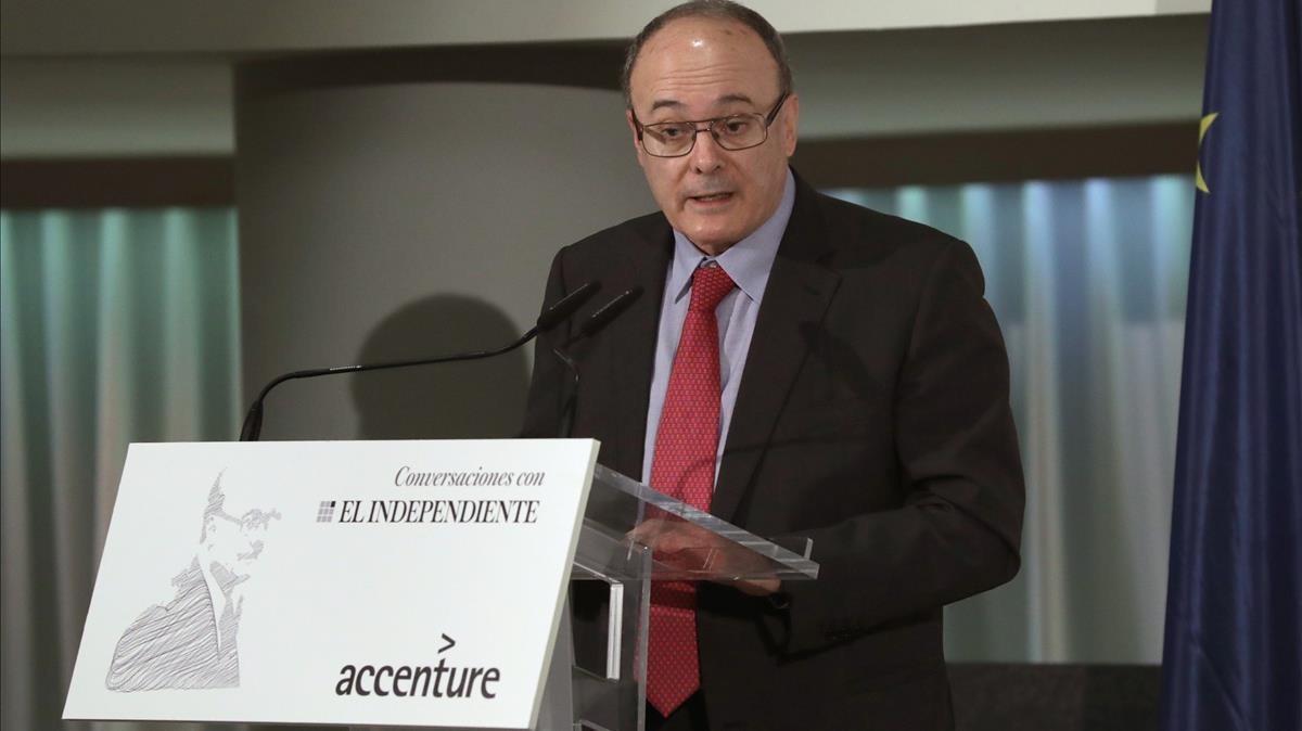 El exgobernador del Banco de España, Luis María Linde,en mayo del año pasado.