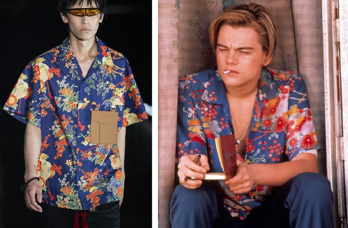 La marca Palm Angels incluyó el verano pasado una versión del modelo hawaiano de Leonardo Di Caprio en el filme 'Romeo + Juliet' (1996), de Baz Luhrman.