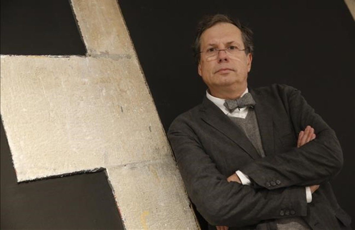 El filósofo Maurizio Ferraris, el miércoles en la sala Arts Santa Mònica, antes de impartir su conferencia.