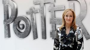 J.K. Rowling, en un acto promocional en Londres.
