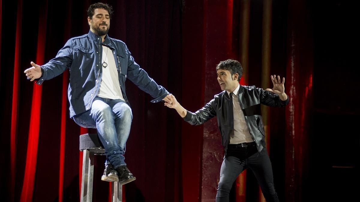 El Mago Pop y Antonio Orozco, en una foto de archivo.