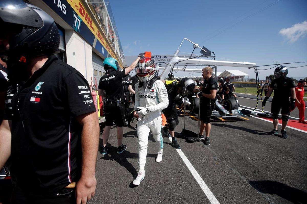 Lewis Hamilton, durante los entrenamientos en el circuito Paul Ricard el año pasado.